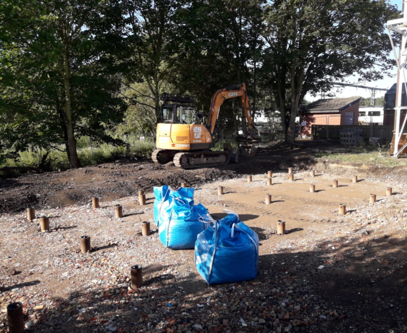 Foundations installed for the replacement of an aged water supply tank at Bedford TPD by Van Elle.