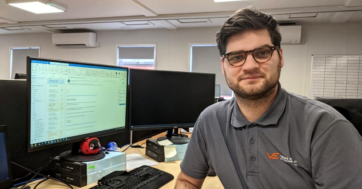 Quantity Surveyor apprentice is fulfilling dream to earn degree at Van Elle