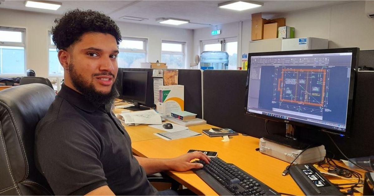 Engineering apprentice earning 'debt free' degree in his dream career at Van Elle